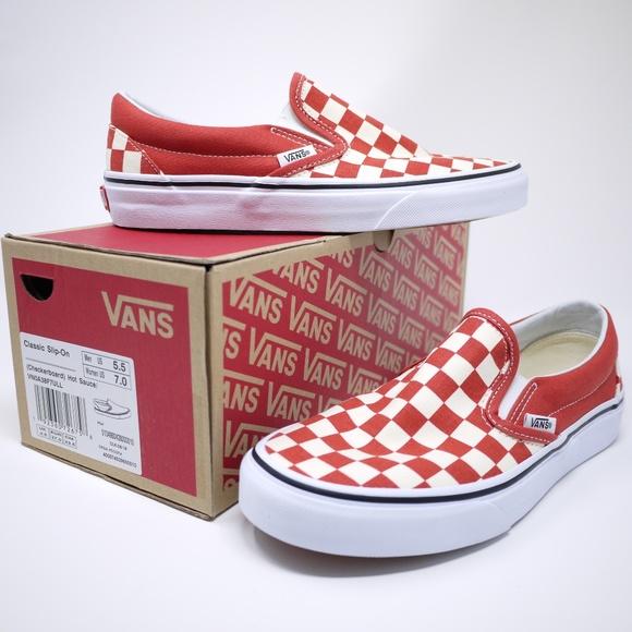 6f8ed95976a Vans Shoes | Classic Slipon Checkerboard M55 W7 | Poshmark